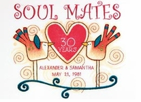 Soul Mates Anniversary Record Crewel Embroidery Kit
