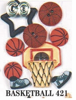 Sports Dress It Up Embellishments Basketball