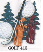 Sports Dress It Up Embellishments Golf