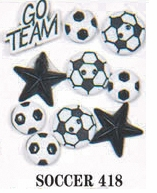 Sports Dress It Up Embellishments Soccer