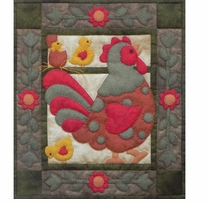 Spotty Rooster Wall Quilt Kit