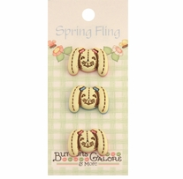 Spring Buttons Bunny Rabbits