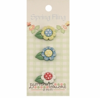Spring Buttons Daisies