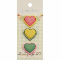 Spring Buttons Hearts