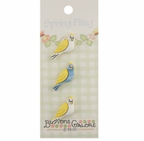 Spring Buttons Love Birds