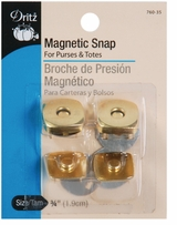 Square Magnetic Snaps 3/4in Gilt