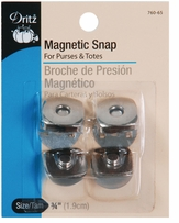 Square Magnetic Snaps 3/4in Nickel