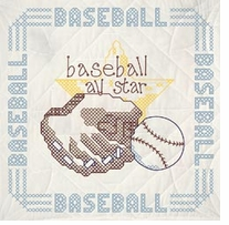 Stamped Quilt Blocks Baseball