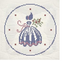 Stamped Quilt Blocks Cross Stitch Lady