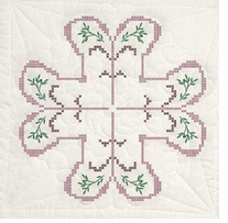 Stamped Quilt Blocks Cross Stitch Pattern
