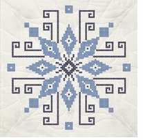 Stamped Quilt Blocks Cross Stitch Wheel