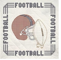 Stamped Quilt Blocks Football