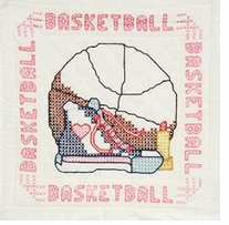 Stamped Quilt Blocks Girl's Basketball