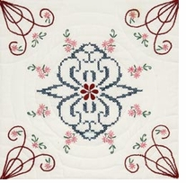 Stamped Quilt Blocks Interlock Delight