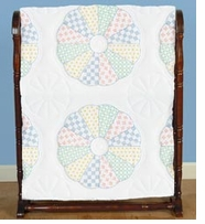 Stamped White Quilt Blocks Interlocking Dresden Circle