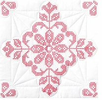 Stamped White Quilt Blocks Interlocking xxx Colonial Willamsburg