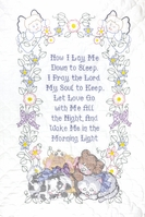 Stamped White Quilt Crib Top Now I Lay Me Down To Sleep - Click to enlarge