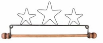 Star Fabric Holder With 7-1/2in Dowel