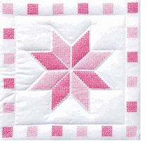 Stars Themed Stamped Quilt Blocks
