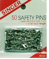 Steel Safety Pins Assorted