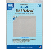 Stick-N-Washaway Stabilizer White 8.5inX11in