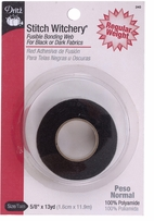 Stitch Witchery Fusible Bonding Web Regular Weight 5/8in Black