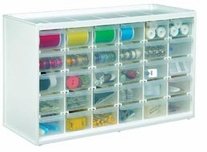 Store-In-Drawer Cabinet with 30 Transparent Drawers