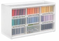 Store-In-Drawer Cabinet with 9 Transparent Drawers