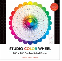 Studio Color Wheel Double Sided Poster Colorwheel