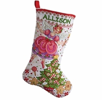 Sugar Plum Stocking Felt Applique Kit