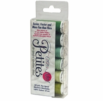Sulky Sampler 12 Wt. Cotton Petites Six Pack Greens Assortment
