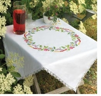 Summer Flowers Tablecloth Embroidery Kit