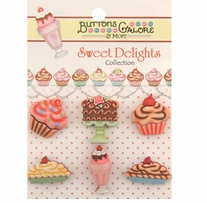 Sweet Delights Buttons Decadent Desserts