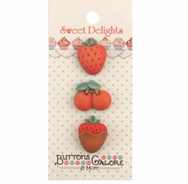 Sweet Delights Buttons Mixed Fruit