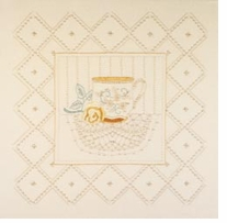 Tea Cup Candlewicking Embroidery Kit