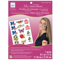 Temporary Tattoo Inkjet Printable Sheet White 8.5inx11in