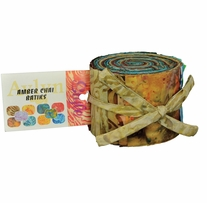 The Batik Man Amber Chai 1 Jelly Roll Mtn View 2.5inx44in 40pcs