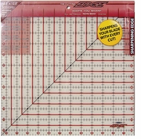 The Cutting EDGE Frosted Ruler 12-1/2inX12-1/2in
