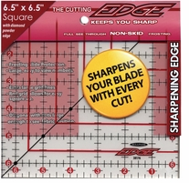 The Cutting EDGE Frosted Ruler 6-1/2inX6-1/2in