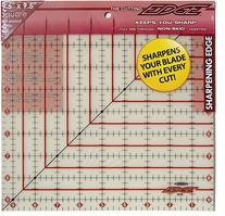 The Cutting EDGE Frosted Ruler 9-1/2inX9-1/2in