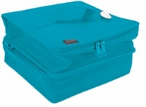 The Double Deluxe Quilted Cotton Organizer Aqua