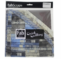 "The Gentleman's Club Fabric Fat Quarters Blue 18""X21"" 6pcs"