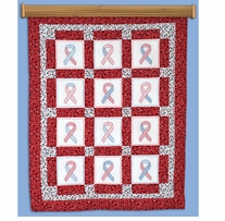 Themed Stamped White Quilt Blocks Ribbon For U.S.A.