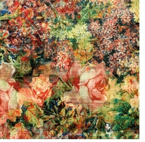Tim Holtz Fabric Eclectic Elements Bouquet-Multi 8 yards