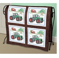 Tractor Quilt Blocks Stamped Cross Stitch