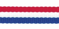 Tri-Stripe Ribbon Red, White, Blue 3/8in - Click to enlarge