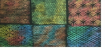 Triangles Rubbing Plates Set Of Six