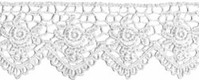 Venice Lace Scallop Edge Rose White - Click to enlarge