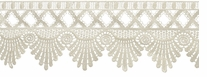 Venice Lace Scalloped Edge Ivory 3-1/2X6yds