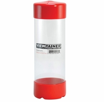 Viewtainer Storage Container 2-3/4inX8in Red